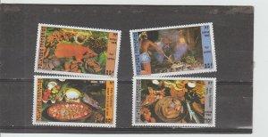 French Polynesia  Scott#  422-423B  MNH  (1985-6 Local Foods)