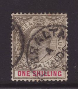 1903 Gibraltar 1/- Wmk Crown CA Good/Fine Used SG51
