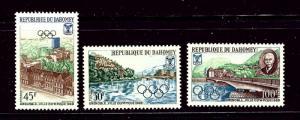 Dahomey 241-43 MNH 1967 Olympics