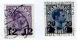 Denmark SC#176-177 Used F-VF hr. SCV$31.00..Worth a Close Look!