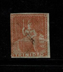 Trinidad SG# 12 Used / Bottom 4mm Tear - S6239