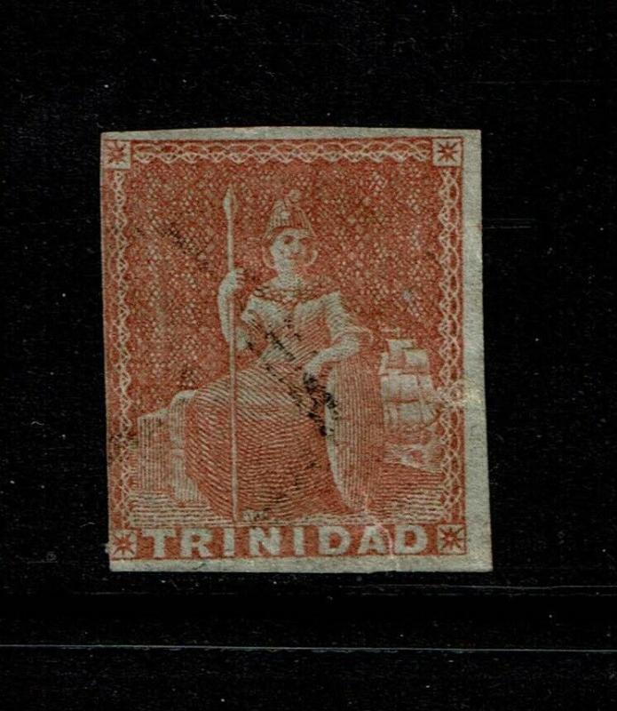 Trinidad SG# 12 Used / Bottom 4mm Tear - S6239
