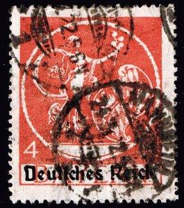 GERMANY STAMP 1920 Bayern Stamps Overprinted Deutsches Reich 4MK $25
