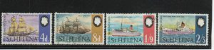 ST.HELENA #  24-27  1969  SHIPS   F-VF  USED