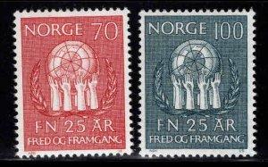 Norway Scott 560-561 MH* 1970 set