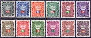 Liechtenstein. 1968. 45-56. Postal Crown Crown. MNH.