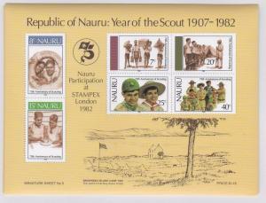 Nauru # 249a, Scouting Year, NH, Forgeries