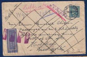 Rare Sweden Postal Cover Facit #167b blue on white paper 90 ore (Scott #152):