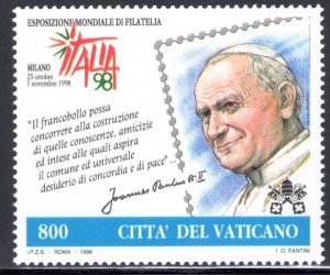 1998 Vatican Issue Joint With San Marino  Giornata Del Stamp And