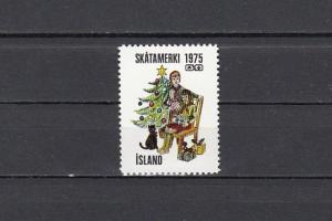 Iceland, 1975 Christmas seal with Boy & Girl Scouts in design.