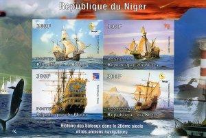 Niger 1998  Ships/SANTA MARIA COLUMBUS Shlt(4) Imperforated  YT#1158/61 MNH