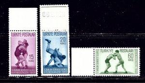 Turkey 986-89 MNH 1949 Wrestling    (ap1682)