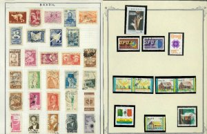 Brazil 1955-early 199'0's mint & Used (mostly) Hinged & in Mounts on Blank pages