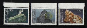 Liechtenstein  #921-923  1989  MNH minerals