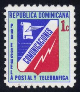 Dominican Rep. #RA63 Communications Emblem, used (0.25)