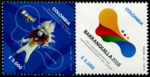 HERRICKSTAMP NEW ISSUES COLOMBIA Central American XXIII Games