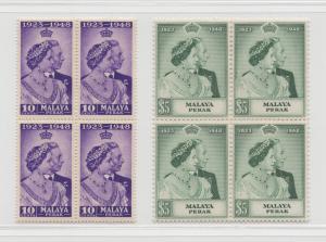 Malaya Perak - 1948 - SG 122-23 - MNH
