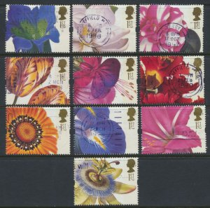 GB  SC# 1713 -1722  Flowers 1997  SG 1955 -1964  Used set of 10  as per scan