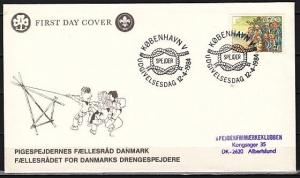 Denmark, Scott cat. 754. Scouts & Campfire issue on a First day cover.