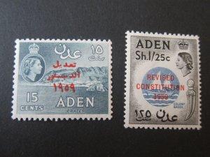 Aden 1959 Sc 63-64 set MNH