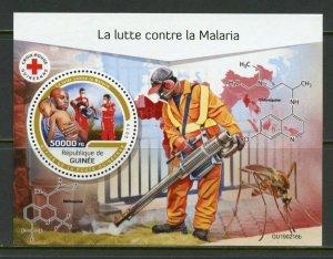 GUINEA 2019  BATTLE AGAINST MALARIA  SOUVENIR SHEET MINT NEVER HINGED