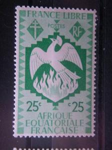 FRENCH EQUATORIAL AFRICA, 1941, MNH 25c, Scott 144