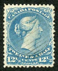 Canada SG60b 12.5c bright blue wmk S Fine Used cat 300