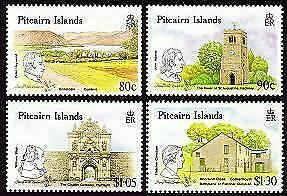 HERRICKSTAMP PITCAIRN ISLANDS Sc.# 332-35 Links w/ United Kingdom