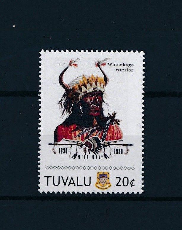 [80920] Tuvalu 2011 Native Americans Indians Winnebago Warrior MNH