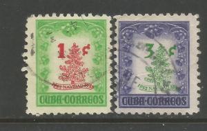 CUBA 498-99 VFU CHRISTMAS R3-130