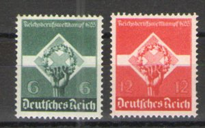Germany - Third Reich 1935 Sc# 454-455 MH VG/F - Young Workers set