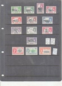 ST HELENA 1953 SET TO 2/-6D UMM/MNH