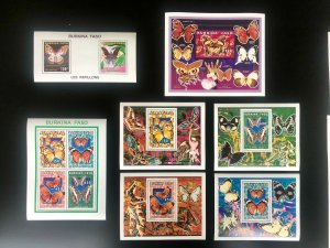 STAMPS THEMATIC BUTTERFLIES
