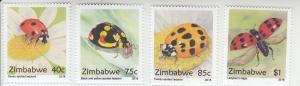 2019 Zimbabwe Ladybugs (4) (Scott NA) MNH