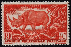 French Equatorial Africa - Scott 168 - Mint-Hinged - Thin