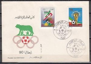 Algeria, Scott cat. 917-918. World Cup Soccer on a First day cover.