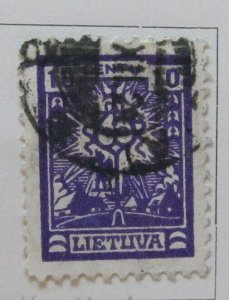 A11P5#39 Litauen Lituanie Lithuania 1923 Wmk Webbing 10c used