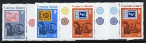 Cayman Islands 426-8 Gutter Pairs MNH Stamp on Stamp, Rowland Hill