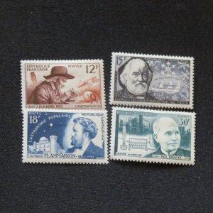 France 790-793, unused  VF, OG VLH. Cv. $6.40