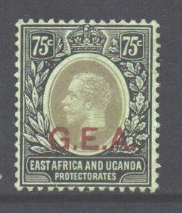Tanganyika Scott N114 - SG54, 1917 GEA Overprint 75c unused no gum