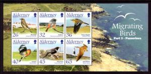 Alderney 238a Birds Souvenir Sheet MNH VF