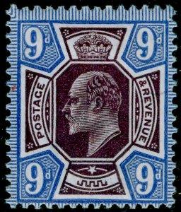 SG306 SPEC M41(-), 9d very dp plum & blue, LH MINT. UNLISTED. HENDON CERT