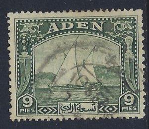 Aden, Scott #2; 9p Dhow, Used