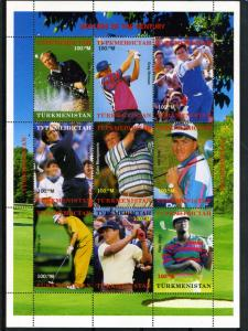 Turkmenistan 2000 Golf Stars Sheet Perforated mnh.vf