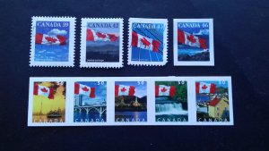Canada 2004 Canadian Flag and Local Motifs - Self-Adhesive Used & Unused