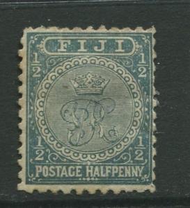 Fiji - Scott 53 - Crest - 1892 - MH - 1/2p Stamp