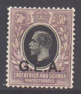 Tanganyika Scott 3 - SG65, 1921 GEA Overprint 50c MH*