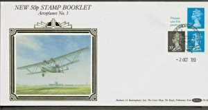 2/10/1989 50p VENDING BOOKLET FDC