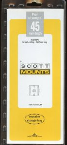 Scott (Prinz) Mounts,45(h) x 264 - 265(l), (264-65x45), Clear - 10 strips.
