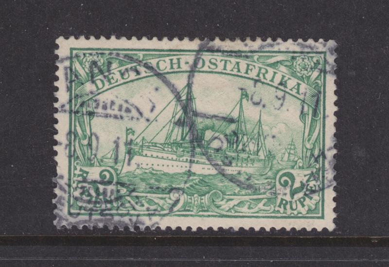 German East Africa Sc 20 used 1900 2r yellow green Kaiser's Yacht VF